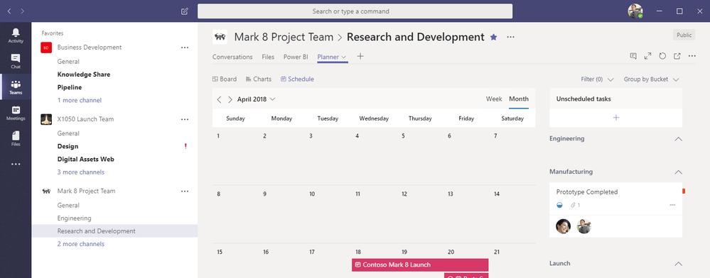 Microsoft Teams planner app